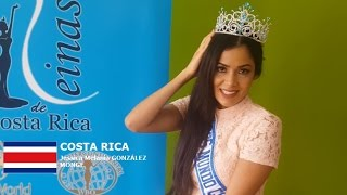 Melania Gonzalez Contestant from Costa Rica for Miss World 2016 Introduction