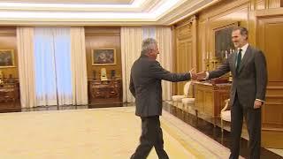 Su Majestad el Rey recibe a Don Pedro Quevedo Iturbe, de Nueva Canarias-Coalición Canaria