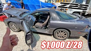 I Bought a $1,000 Camaro Z/28 to Destroy Cooper and James in a $1,500 BEATER BATTLE!!!