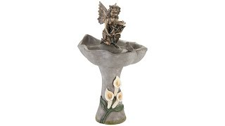 "Garden Fairy 34"" High Stone Indoor/Outdoor Fountain"