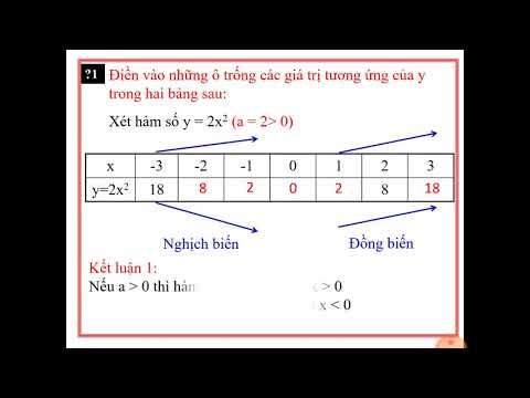 Toán 9: Tiết 47: Hàm số y=ax2