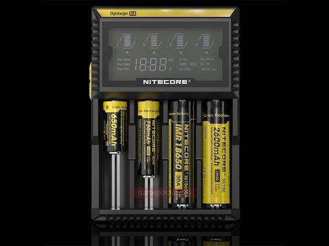 Универсальное зарядное устройство Nitecore SYSMAX Digicharger D4 - видео 1