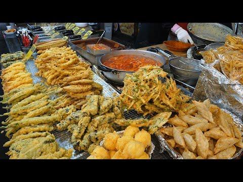 The most popular street foods in Korea – Fried food Tteokbokki Fish cake Kimbap