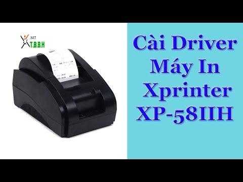 Hướng dẫn cài máy in bill xpriner xp-58iih
