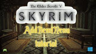 skyrim special edition Add Item Menu quick Menu Access to mods Tutorial [HD]