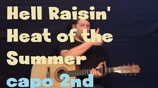 Hell Raisin' Heat of The Summer (Florida Georgia Line) Easy Guitar Lesson How to Play