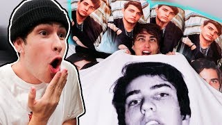 PRANKING JAKE with BLANKET/PILLOWS of ME!! | Colby Brock