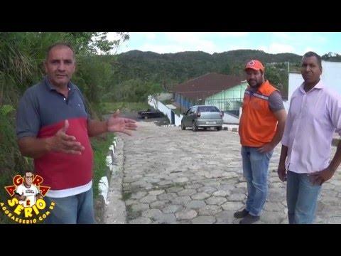 Abel do barnabés apresenta a pavimentação de acesso a Escola Estadual Recanto das Orquídeas
