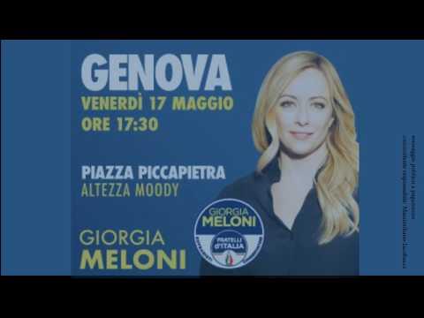 VENERDI' 17 MAGGIO APPUNTAMENTO A GENOVA CON GIORGIA MELONI