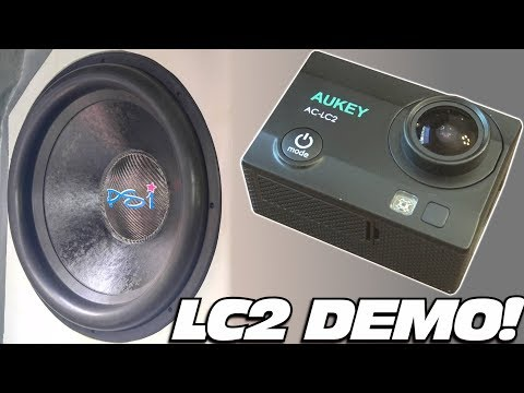 LC2 Subwoofer Testing w/ EXO's AUKEY 4k Action Camera Review | HD Car Audio Test & Underwater DIVE