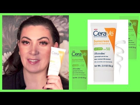 Cerave Face Lotion SPF 50 Sunscreen Review | #SUNSCREENSUNDAY