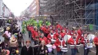 preview picture of video 'Veilchendienstagszug Mönchengladbach 17.02.2015 Teil 1/8 (Hindenburgstraße vorm Minto)'