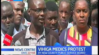 Vihiga Medics Protest: Over 500 health workers laid off