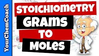 Changning Grams To Moles Using Stoichiometry