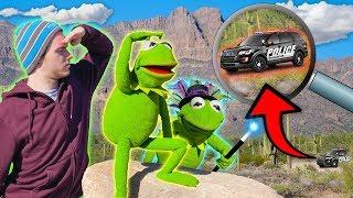 Magic Trick leaves Kermit the Frog LOST in Arizona desert! (COPS CALLED)
