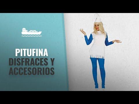 10 Mejores Disfraces Y Accesorios De Pitufina : Guirca - Disfraz adulta enanita azul, Talla 38-40
