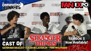 Stranger Things (Caleb McLaughlin, Finn Wolfhard, Gaten Matarazzo) FAN eXpo Canada Full Panel