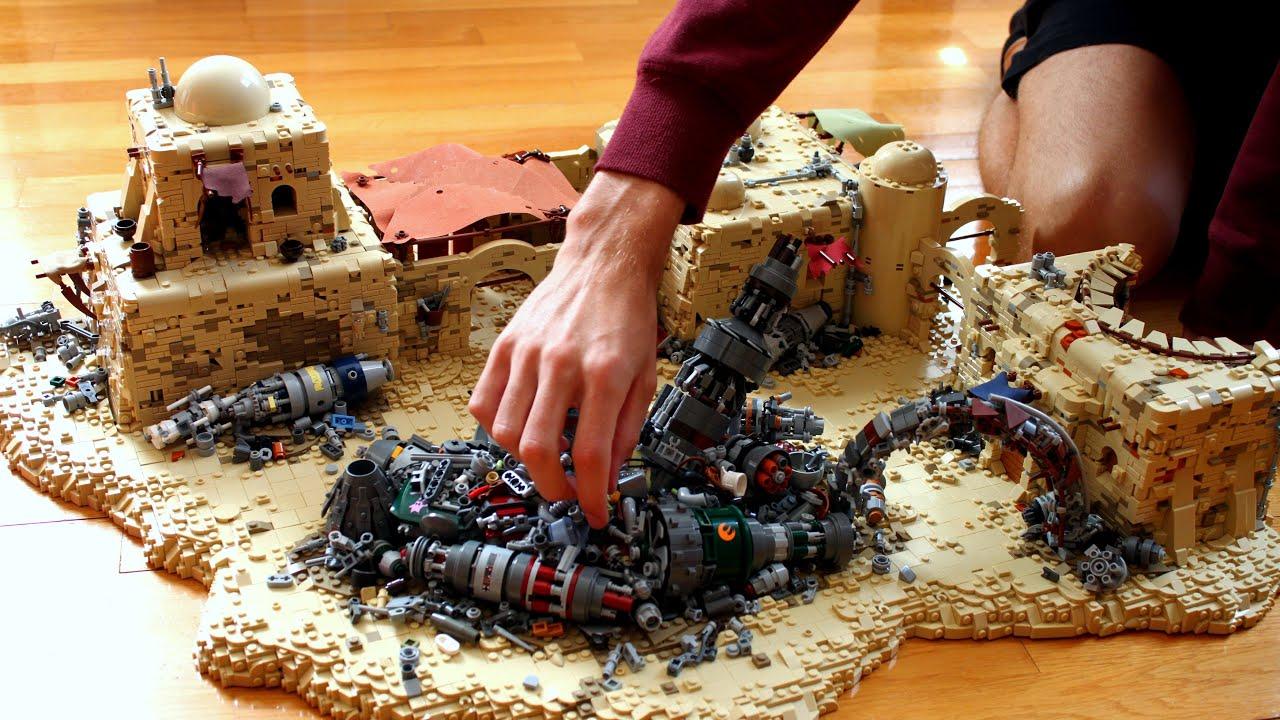 TIMELAPSE: Star Wars Ruin City Tatooine Junkyard Battle LEGO MOC / Battlefront 2 LEGO Star Wars Moc