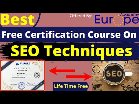 Best Free Certification Course On SEO Techniques AcademyEurope ...