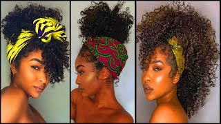 15 Easy Turban Hairstyle Tips For Natural Curly Hair Girl  Turban Hairstyle Tutorials