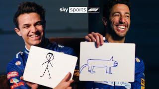 Lando and Daniel take on HILARIOUS drawing challenge! ✏️😂