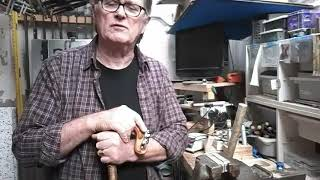 Making a shepherds crook in ply