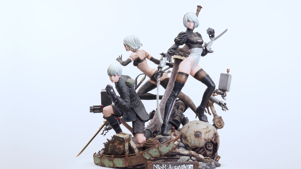 Video SQUARE ENIX MASTERLINE NIER:AUTOMATA 1/4 SCALE STATUE - DELUXE VER.