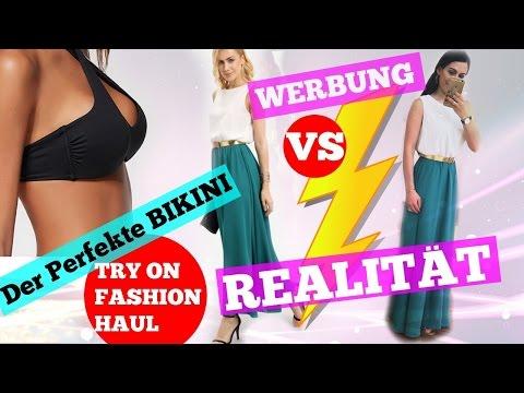 CHINA ONLINE SHOP FAIL?! - Werbung VS. Realität TRY ON 👗👛 I Der perfekt Bikini 👙 I Calzedonia I