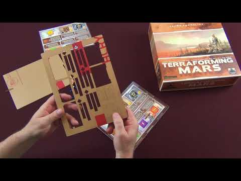 Moe's Game Table reviews Terraforming Mars Acrylic Overlays