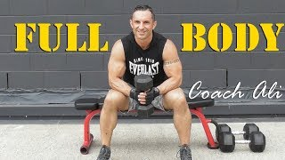 NEW Full Body Dumbbell Workout For Weights Training At Home 45mins/545cals