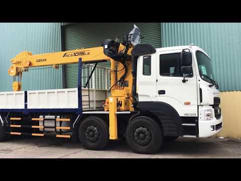 Xe Hyundai HD320 lắp cẩu Soosan 10 tấn
