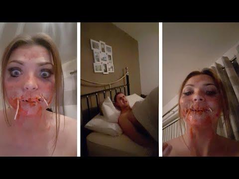 Девушка напугала своего парня мейкапом на Хэллоуин