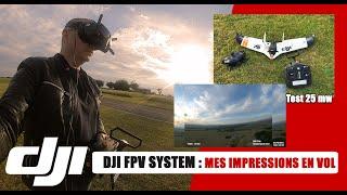 DJI FPV SYSTEM : MES PREMIERES IMPRESSIONS EN VOL AVEC MON AILE (LIVE)