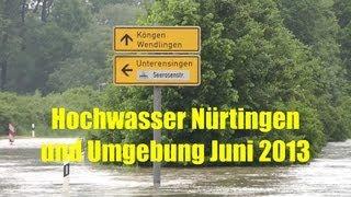 preview picture of video 'Hochwasser Nürtingen & Umgebung Juni 2013'