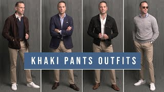8 Ways To Wear Khaki Pants | Chinos With Boots, Loafers & Sneakers