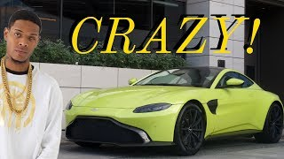 A Day of Car Spotting In Beverly Hills -2018 Aston Martin Vantage, LOUD Aventadors, and Fetty Wap!