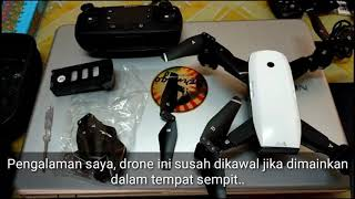 REVIEW #11 Lazada - FPV RC Drone With Live Video Return Home Foldable RC With HD 720P1080P Camera Q