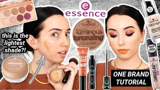 FULL FACE OF ESSENCE COSMETICS! Under $10 Affordable One Brand Tutorial