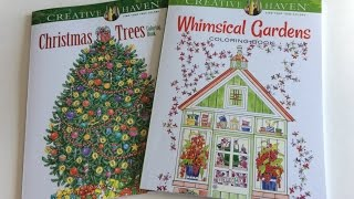 Adult Coloring Book Creative Haven Whimsical Gardens And Christmas Trees Share Flip Thru