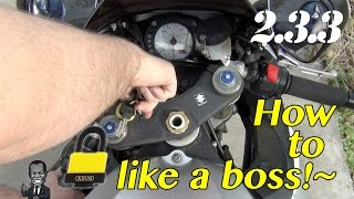 Motovlog - SfaS 2.3.3 - How to Lock up Your Motorcycle Like a Boss!