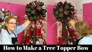 How to Make a Christmas Tree Bow Topper