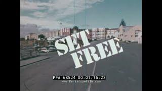 """ SET FREE ""  1970s CHRISTIAN DOCUMENTARY   SAN QUENTIN PRISON  REHABILITATION OF PRISONERS 68524"