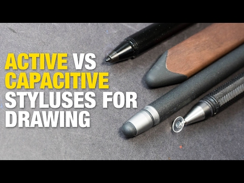 Active vs Capacitive Styluses for Drawing