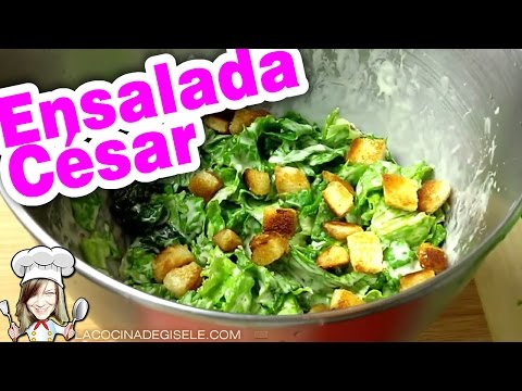 Ensalada Cesar ¡Facil y rápida! Receta Original