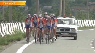 Тренировки сборной Хакасии по велоспорту