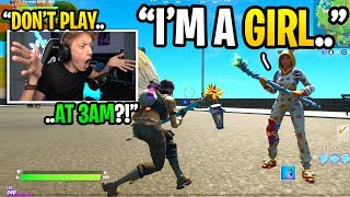 I met a GIRL when I played Fortnite at 3AM and LIED to her 10 TIMES... (she confronted me)