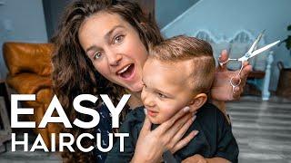 HOW TO CUT BOYS HAIR AT HOME   EASY BOYS HAIRCUT TUTORIAL 💇♂️