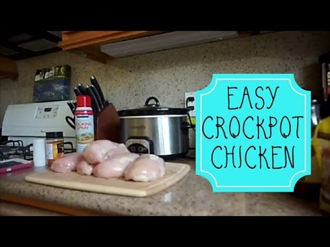 Video EASY Crockpot Chicken Recipe