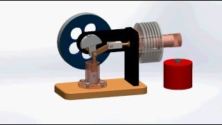 preview picture of video 'Motor Stirling en SolidWorks'