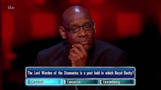 Bonny Gets Her Lord Warden of the Stannaries Question Right | The Chase